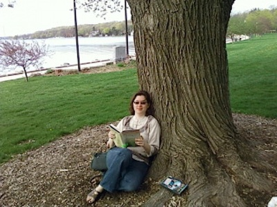 In summer weather, I like to find a spot in Library Park to read/people-watch/stare out at the lake.