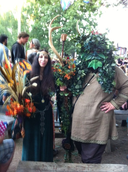 GreenMan and lady