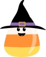 witch hat candy corn