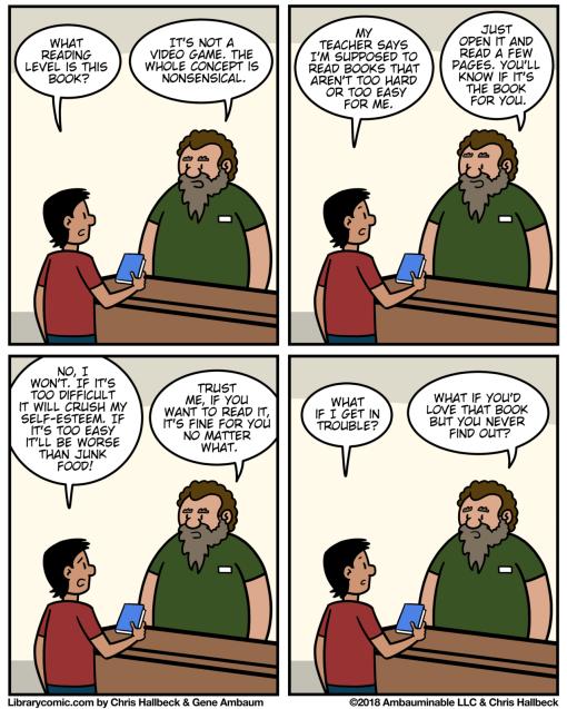 library comic